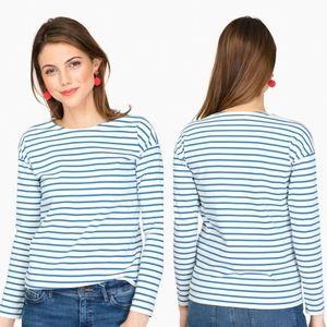 KULE Cream & Blue The Boyfriend Stripe Top